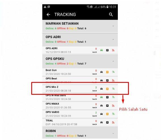 aplikasi gps tracker online