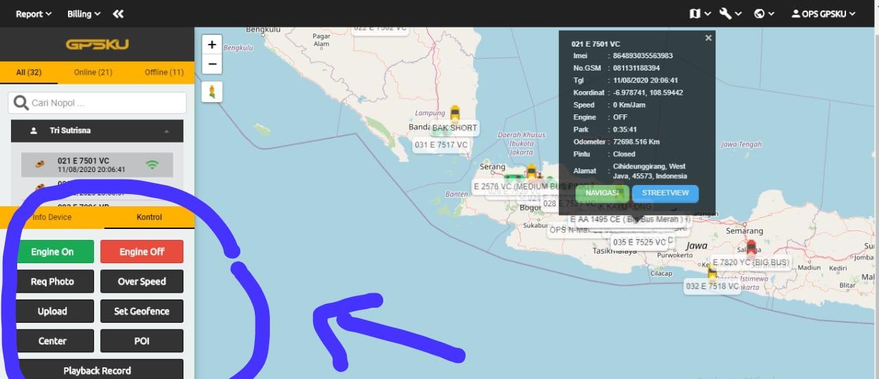 fitur server gps tracker
