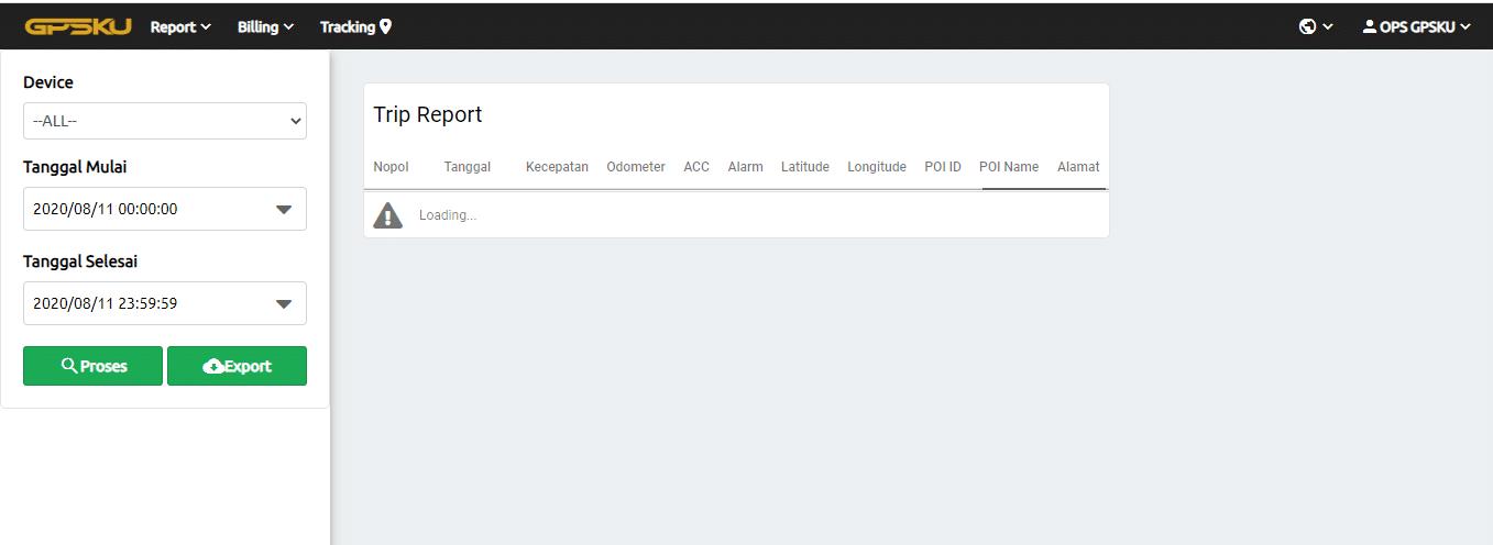 trip report gpsku server