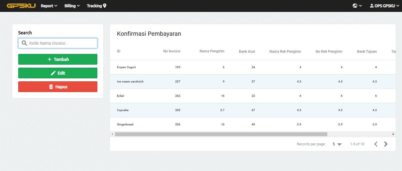 konfirmasi pembayaran server gps